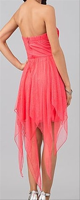 Speechless Sequin Sparkle Hi Low Party Holiday Prom Strapless Flirty Flower Dress
