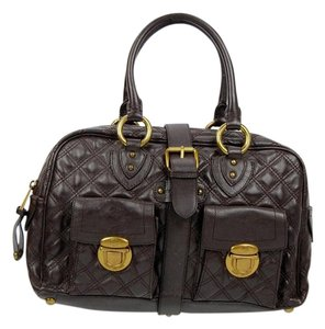Marc Jacobs Venetia Handbag Quilted Leather Tote in Brown