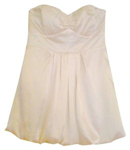 To the Max Peplum Sweetheart Satin Top Cream