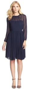 Eliza J Pleated Eliza Wedding Guest Fit & Flare Pleated Dress