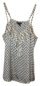 Wet Seal Spotted Ruffle Top White & Black