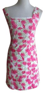 Lilly Pulitzer short dress Pink/White/Kelly Green on Tradesy