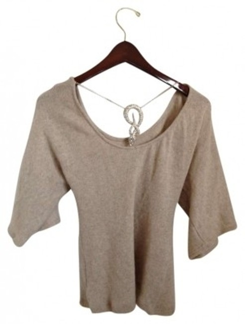 Preload https://item4.tradesy.com/images/sky-beige-rngold-accent-sweaterpullover-size-0-xs-153298-0-0.jpg?width=400&height=650