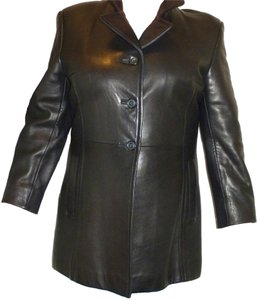 Frenchi Lined Soft Leather 12p Leather Jacket Coat