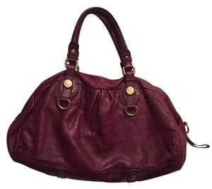 Marc by Marc Jacobs Leather Satchel in Burgundy
