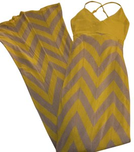 Yellow and nude print Maxi Dress by Arden B.