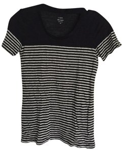 J.Crew Linen T Shirt Navy and white stripe