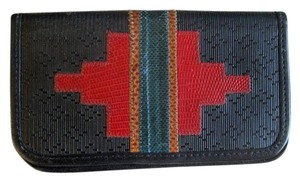 Carlos Falchi Carlos Falchi snakeskin leather wallet checkbook cover