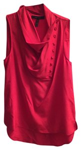 BCBGMAXAZRIA Bcbg Silk Button Top Red