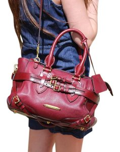 Burberry Satchel in Burgunday