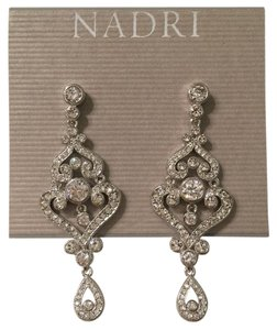 Nadri Rodhium Zirconia Dangle Earring
