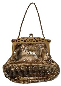 Whiting & Davis Wristlet in Gold Metal