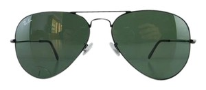 Ray-Ban Gently Used Ray-Ban Sunglasses RB 3025 L2823 Black Aviator Large Metal Full-Frame Made in Italy 58mm