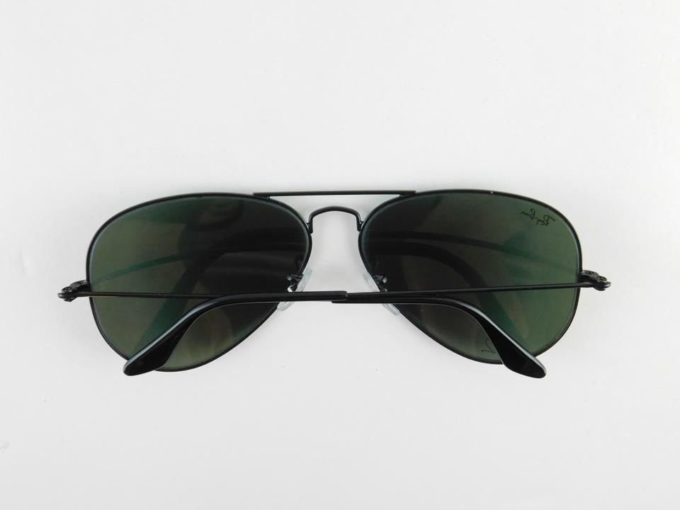 Ray-Ban Black Gently Used 3025 L2823 Aviator Large Metal Full-frame ...