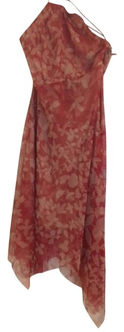 Item - Red and Beige Long Night Out Dress Size 10 (M)