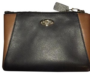 Coach Wristlet in Black/Saddle