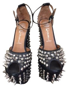 Jeffrey Campbell Spike Studded Leather black w/silver Platforms