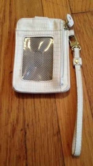 Steve Madden Leather Phone Coin Purse Wristlet in white
