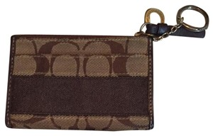 Coach Key Chain Wallet Wristlet in brown