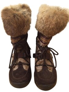 Coach Fur Snow Brown Boots