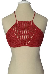Rust/Reddish-Orange Halter Top