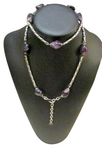 Chanel Silver with Polished Amethyst Nuggets Necklace