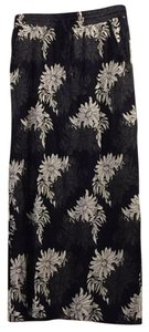 Ann Taylor LOFT Maxi Skirt Navy blue, white, grey