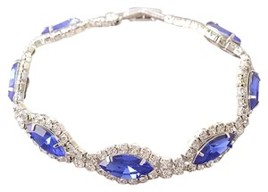 Other New Swarovski Crystal & CZ 9k White Gold Filled Tennis Bracelet