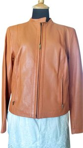 Cole Haan chestnut Leather Jacket