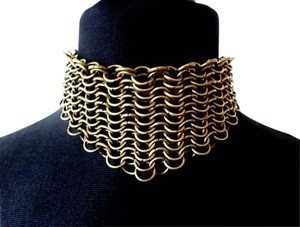 AgaTha CouTure Collection Hand Made NEW Hand Made Chain Link Choker