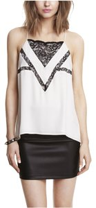 Express Top Black and White Lace