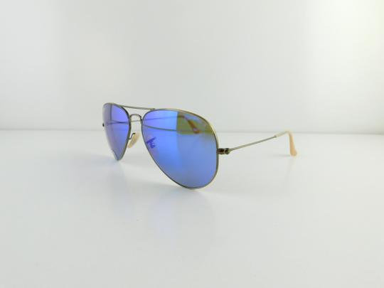 Ray-Ban Matte Bronze Frame Reflective Blue Lens Gently Used 3025 167 ...