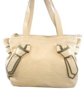 See by Chlo Leather Pebbled Shoulder Hobo Tote in Nude