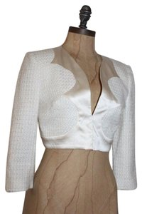 bebe Tweed Crop IVORY Jacket