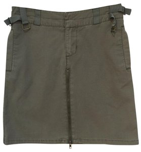 Mossimo Supply Co. Very Versatile Durable Half-zip Casual Lots Of Detail Mini Skirt Military Green