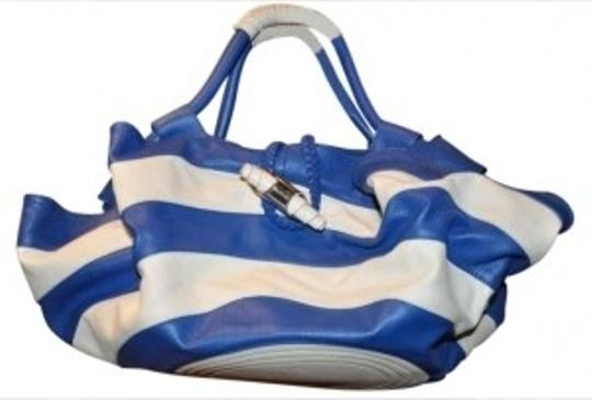 Other Summer Satchel in white/blue