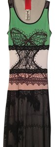 Black multi Maxi Dress by Christian Lacroix Maxi Crochet