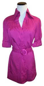 bebe Button Down Shirt Pink