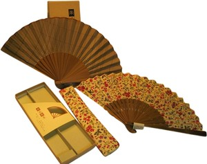 Kyoseido Co. Couples Chinese Hand Fan Set by Kyoseido Company - [ Roxanne Anjou Closet ]