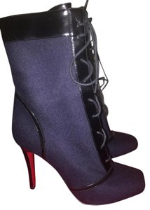 Christian Louboutin Navy Blue/Black Boots