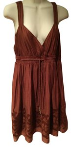 Banana Republic short dress Brown Cotton on Tradesy