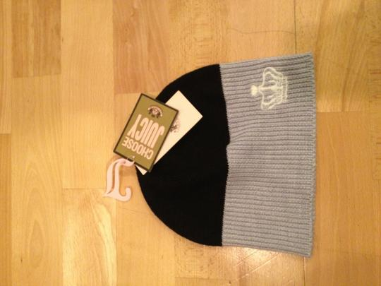 Juicy Couture Black & Grey Colorblock Beanie