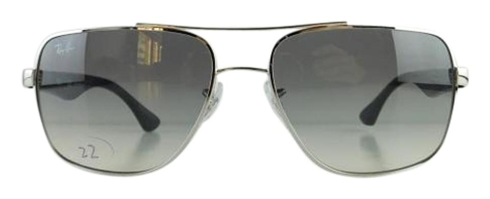 34e75d6a4d Ray-Ban Silver Frame Gray Gradient Lens Gently Used 3483 003 32 Full ...