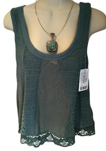 Anthropologie Crochet Lace Top green