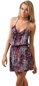 Parker short dress Navy Cami Floral on Tradesy