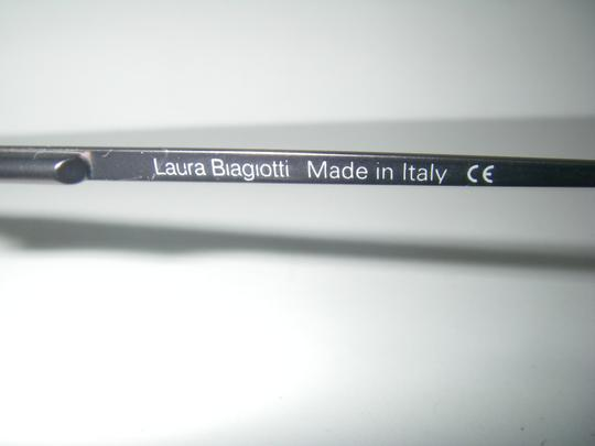 Laura Biagiotti Laura Biagiotti 95151 Sunglasses Half Rimless Purple Metal Frame Made in Italy