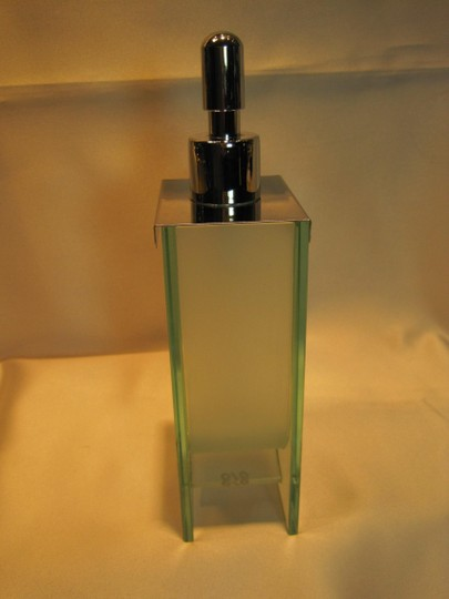 Other Hand Soap/Lotion Dispenser; Glass and Chrome - [ Roxanne Anjou Closet ]