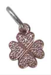 PANDORA Authentic Pandora 14K Rose Gold & Sterling Lucky In Love Shamrock Pendant 791335