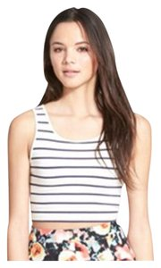BP. Clothing Crop Nwt Top Cream with Black Stripes