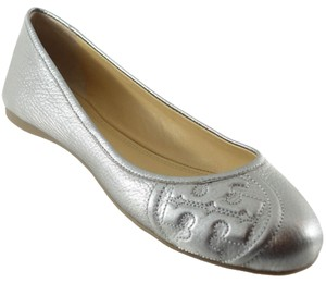 Tory Burch Ruby Ballet Pewter Flats